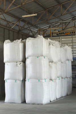 Stacked Bulk Bags