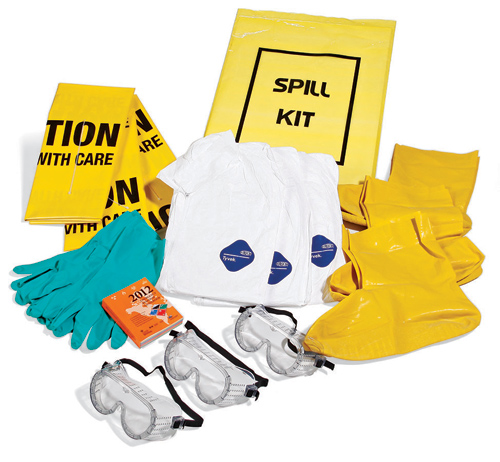 how to use biological and chemical spillage kit